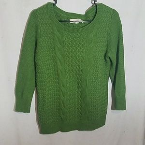 Loft |  Green Thick Sweater